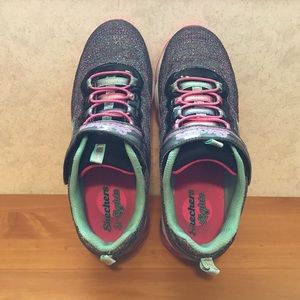 Skechers Shoes - Sketchers S-Lights Air Lites Black/Multi-coloured